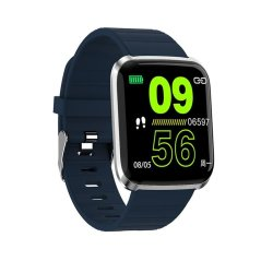 Bakeey 116 Pro 1.3INCH Large View Heart Rate Blood Pressure Monitor Multi-sport Modes Smart Watch - Dark Blue