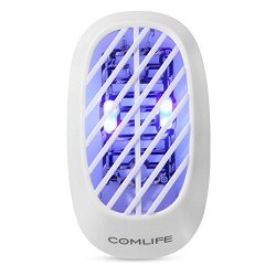 COMLIFE MINI Plug-in Electric Bug Zapper Indoor Mosquito Killer Insect Catcher Gnat Trap Fly Zapper Uv Lamp Insect Killer For Ho