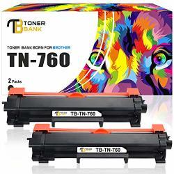 Toner Bank Compatible Toner Cartridge Replacement For BrOther TN760 Tn 760 TN730 HL-L2370DW MFC-L2710DW HL-L2350DW DCP-L2550DW Black 2PACK With Chip