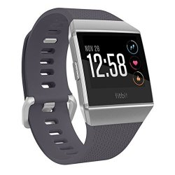Fitbit Ionic Gps Smart Watch Blue-gray silver One Size S & L Bands Included