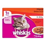Whiskas - Cat Food Meat In Jelly Multipack 12 X 85G