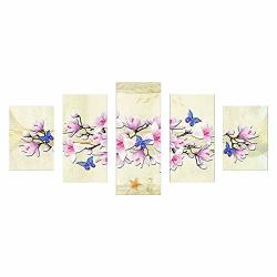 Lotus.flower Diy Full Drill 5D Diamond Painting Kits 5 Sets Of Splicing Paintings Crystal Rhinestone Diamond Embroidery Combination Paintings Pictures Stitch Craft Art For