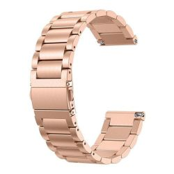 Stainless Steel Link Band For Fitbit Versa - Rose Gold