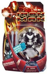 Hasbro Iron Man Movie Satellite Armor Iron Man Action Figure Silver Armor