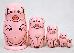 USA Pig Nesting Doll 5PC. 4
