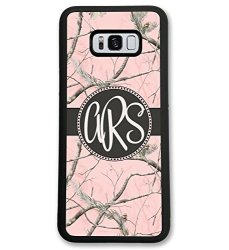 Samsung Galaxy S9 Simply Customized Phone Case Compatible With Samsung Galaxy S9 5.8 Inch Pink Camo Monogram Monogrammed Persona