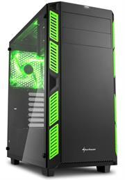 Sharkoon AI7000 Glass Window Atx Tower PC Gaming Case Green With Side Window