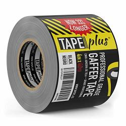Gaffers Tape - 4 Inch By 40 Yards In Black - Get 33% More High End Professional Grade - Gaffer Tape Is The Perfect
