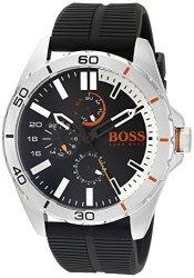 Boss Orange Men's 1513290 Berlin Analog Display Japanese Quartz Black Watch