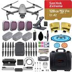 2018 Dji Mavic 2 Pro Drone Quadcopter Fly More Combo Kit Hasselblad Camera Hdr Video With 3 Batteries 128GB Micro Sd Landing Gea