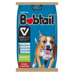 Bobtail - Small medium Adult Dog Food Chicken & Rice 8KG