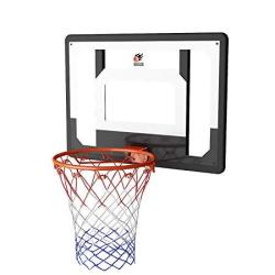 Cyfie Over-the-door Basketball Hoop Backboard System 32 X 23 Shatter-free Backboard 15 Break-away Rim With 8.66 Inflatable Baske