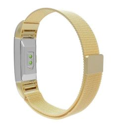 Milanese Loop Band For Fitbit Charge 2 - Gold Size: S m