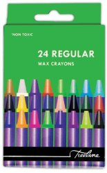 Treeline - Regular Wax Crayons 24 Piece