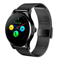 GBlife K88H Bluetooth Smart Watch Fitness Tracker With Heart Rate Monitor For Ios And Android Black