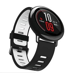 Besde 22MM Replacement Silicone Sports Strap Band For Xiaomi Huami Amazfit Smart Watch A Gray