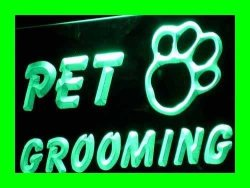ADV PRO I276-G Open Pet Grooming Shop Dog Cat Neon Light Sign