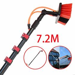 Rxqee 3.6-11M Washing Set Equipment Telescopic Extension Pole Cleaning Suitable For Trucks Windows Window Glass Wall Photovoltai