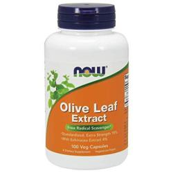 Now Supplements Olive Leaf Extract Extra Strength 100 Veg Capsules