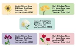 Artistic Labels Garden Blossoms Assorted Set Of 215 Sheeted Address Labels