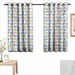 """Martindecor Baby Drapes For Living Room Children Footprints Pattern In Many Tones Abstract Design Infant Feet Illustration 55""""X 39"""" Suitable For Bedroom Living Room Study Etc."""
