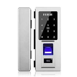 Porlik No Drill Security Biometric Fingerprint Door Lock For Glass Door Password Door Lock With Ic Cards