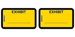 """TABBIES Color-coded Legal Exhibit Labels 1 5 8"""" X 1"""" Yellow 2 Packs"""