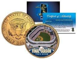 The Merrick Mint Old Yankee Stadium 2008 Jfk Half Dollar Coin Gold Plated House That Ruth Built
