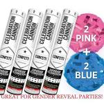 Baby Gender Reveal Confetti Launcher Cannon 4-PACK - Biodegradable Confetti 2 Pink And 2 Blue