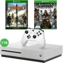 Microsoft Xbox One S Console 1TB - With Tom Clancy& 39 S The Division 2 And Assassin& 39 S Creed: Syndicate