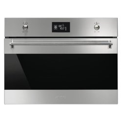 Smeg SF4301MX Microwave With Grill Classic Built-in Compact