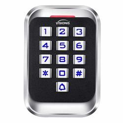 Visionis VIS-3004 Access Control Indoor Outdoor Rated IP68 Metal Anti Vandal Keypad + Reader Standalone + Wiegand 26 No Software Em Compatible 2000 Users