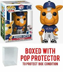 Pop Sports Mlb Mascots Texas Rangers Rangers Captain 20 Action Figure Bundled With Pop Box Protector To Protect Display Box