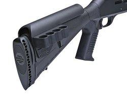 Mesa Tactical Sureshell Shotshell Ammunition Carrier 12 Gauge For Urbino Stock Cheek Rest Right Side 4-ROUND Aluminum Matte