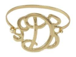 Ganz Girls Monogram Initial Bangle Bracelet D