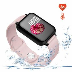 SMART WATCH For Android And Ios Phones With Heart Rate & Blood Pressure Monitor Sleep Monitort Information Reminder & Rtep Counter Waterproof Fitness Tracker