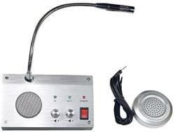 ONETAK Bank Counter Window Intercom System Dual-way Intercommunication Microphone 3W