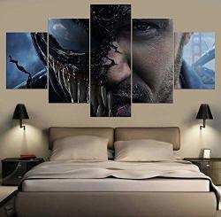 5 Piece Wall Art Painting 5 Pieces Venom Movie Tom Hardy Figure Painting Modern Home Deocrations HD Printing Modular Picture Pos