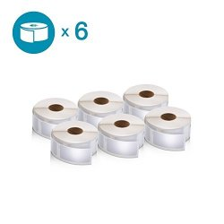 """Dymo Authentic Labelwriter Multi-purpose Labels For Labelwriter Label Printers White 1"""" X 2-1 8"""" 30336 6 Rolls Of 500"""