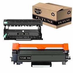 Futune Compatible Toner Cartridge & Drum Unit Set Replacement For Brother TN760 Toner Cartridge & Brother DR730 Drum Unit For Brother DCP-L2550DW MFC-L2710DW M