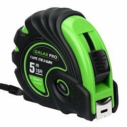 Tape Measure Galax Pro 16FT Measuring Tape With Resistant Rubber Covered Case 3 Strong Lock Ways Compatible With Inch And Metric For Construction Contractor