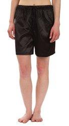 Elastic Leisureland Satin Pajama Longe Sleep Boxer Shorts XL Black