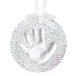 PearHead Babyprints Handprint Or Footprint Holiday Glitter Ornament