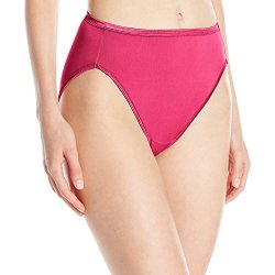 Vanity Fair Women's Intimates Vanity Fair Women's Illumination Hi Cut Panty 13108 Dragon Berry MEDIUM 6