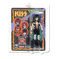 Figures Toy Company Kiss Retro 8 Inch Poseable Action Figure Series 3 Catman