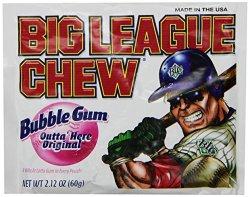 Big League Chew Outta' Here Original Bubble Gum 2.12 Ounce Pouch