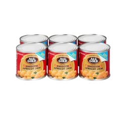 All Gold Jam Smooth Apricot 6 X 225G