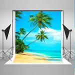 Tropical 5X7FT Rainforest Photography Backdrop Summer Beach Background Cloth For Wedding Photo Booth Custom Size Digital Printed