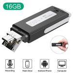 16GB USB Voice Recorder Tensafee MINI Recorder Sound Audio Recorder For Lecture Meeting Pocket Voice Recorder Dictaphone Small R