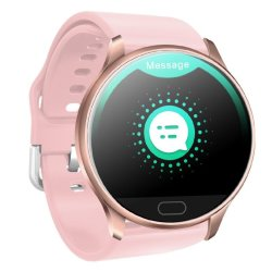 Color Touch Screen Waterproof Fitness Smart Watch - Pink